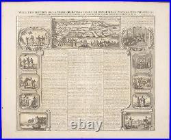 Chatelain South Africa View Lovango & Congo 1718 Atlas Historique Engraving