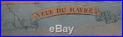 Chez Jean Jean De Beauvais 32 Rue 1790's colored engraving VIEW OF HAVRE DE GRAC