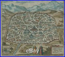 City View of Damascus DAMASCUS URBS NOBILIBIMA Braun & Hogenberg in 1581