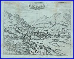 City View of Innsbruck OENIPONS VULGO INSPRUCT Braun & Hogenberg in 1575