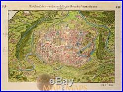 Colmar France Cosmographia Sebastian Münster 1570 Mapandmaps