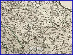 Corsica France 1780 Hubert Jaillot/ Santini Very Large Antique Map 18th Century