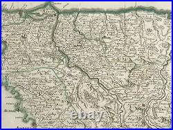 Corsica France 1790 Hubert Jaillot Very Large Antique Map 18th Century