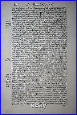 Corsica France T. Porcacchi 1590