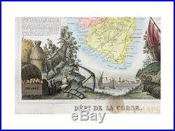 Corsica map Dépt. De La Corse Napoleon Levasseur 1856