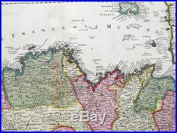 De Wit Original Colored Map Bretagne France 1690