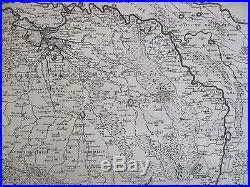 De l´Isle Huge Map Brabant Belgium France Caarte van Brabant 1720