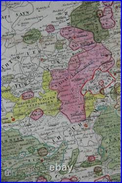 Der Oberrheinische Kreis Upper Rhine Upper Rhine, Germany France map Homann 1786