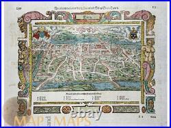 Die Stadt Tours Old Woodcut France Seb. Munster 1628