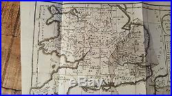 EARLY French Mineralogic Map, Circa 1750 / S. England, Northern France