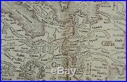 Europe Ca 1550 Original Antique Map Europe Sebastian Munster Cosmographia