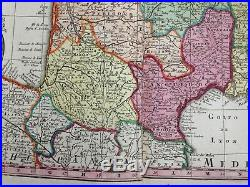 FRANCE GALLIA by Matheus SEUTTER c. 1730 LARGE NICE ANTIQUE ENGRAVED MAP