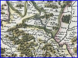 FRANCE LORRAINE 1640 JOHANNES JANSSON LARGE ANTIQUE MAP 17th CENTURY