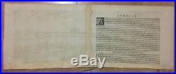 FRANCE ORLEANS 1582 BRAUN HOGENBERG 16e CENTURY LARGE PANORAMIC ENGRAVED VIEW