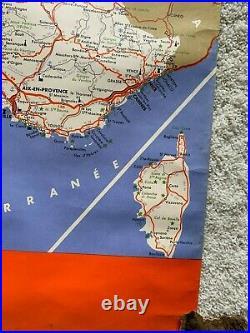 FRANCE Road Map, Toubas Cartographer, Cartes Touristiques 1960's Mid-Century BIN