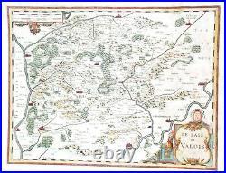 Fine Hand-Coloured Map of France LE PAIS DE VALOIS by Jansson in 1631