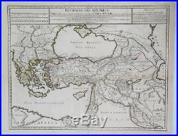 Fine Map Eastern Mediterranean RETRAITE DES DIX MILLES by Delisle in 1723