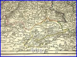 Flanders 1752 18th Century Robert De Vaugondy Large Antique Map In Colors