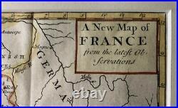 Framed Antique Map of France by John Senex (c1733)