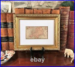 Framed Original 1887 Antique Map EUROPE Germany Italy Ireland Scotland Russia