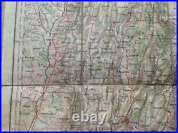 France Annecy Mont-blanc 19th Century Large Detailed Antique Map On Linen