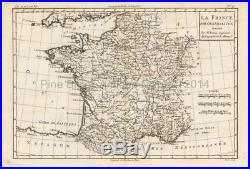 France Antique Map Original French Decor Ancestry Gift Idea Bonne 1780