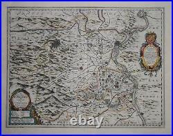 France Avignon. Le Principatus D' Orange. By W. Blaeu Circa 1635