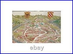 France Bisanz antique woodcut Besançon Sebastian Münster 1628
