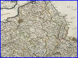 France Dated 1676 Giacomo De Rossi Rare Antique Map 17th Century