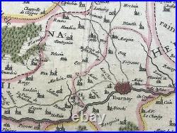 France Flanders Nord 1635 Willem Blaeu Large Nice Antique Map 17th Century