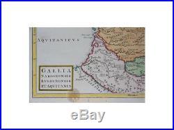 France Gaul Antique map Gallia Narbonensis Cellarius 1796