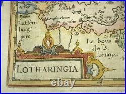 France Lorraine 1613 Mercator / Hondius Atlas Minor Nice Antique Map