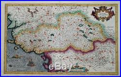 France Nantes, La Rochelle, Poitiers Poictou By Mercator, Circa 1620