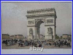 France Paris Dans Sa Splendeur Arc De Triomphe De L'etoile By Benoist, 1861