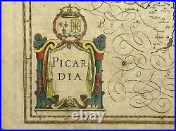 France Picardie 1640 Gerard Mercator / Jodocus Hondius Large Antique Map