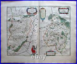 France Picardy Cappelle Veromanduorum c. 1650 Blaeu folio map