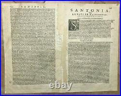 France Saintonge Cognac 1636 Jodocus & Henricus Hondius Large Antique Wine Map