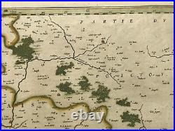 France Saintonge Ile De Re 1644 Willem Blaeu Large Antique Map 17th Century