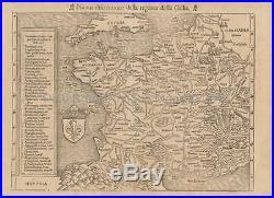 France Vintage Map Munster 1560 Original