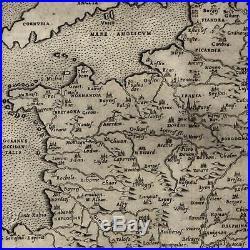 France nova tabula 1599 Ruscelli Rosaccio fine antique map