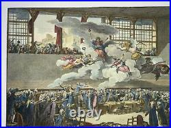 French Revolution Serment Du Jeu De Paume 1789 Monnet Very Large Antique Plate