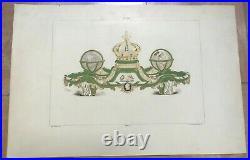 GLOBES PORCELAINE DE SEVRES FRANCE 1892 GARNIER ANTIQUE PLATE 19e CENTURY