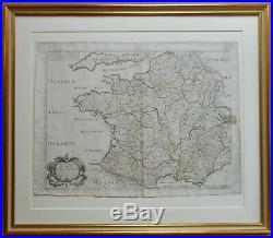 Galliae Antiquae Original Copperplate Map by Nicolas Sanson published Paris 1642
