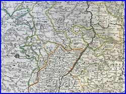 Germany Palatinat 1648 Nicolas Sanson Large Antique Map 17th Century