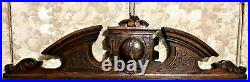 Globe world map decorative carving pediment Antique french architectural salvage