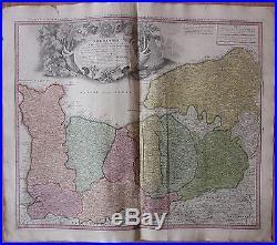HOMANN Atlas Map of France Normandie 1747