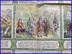 History Of France Le Petit Journal 1900 Menetrier Large Original Lithography