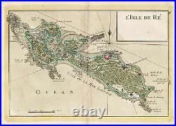 Ile de Re island Insel France gravure carte Karte map Kupferstich Le Rouge 1767