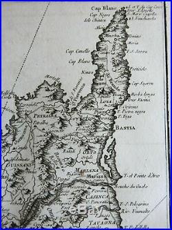 Island of Corsica Mediterranean Islands France 1760 Bellin map