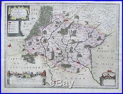 JANSSONIUS France Picardie Capelle Marle Guise 1650